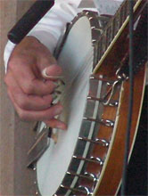 Close Up Playing Banjo